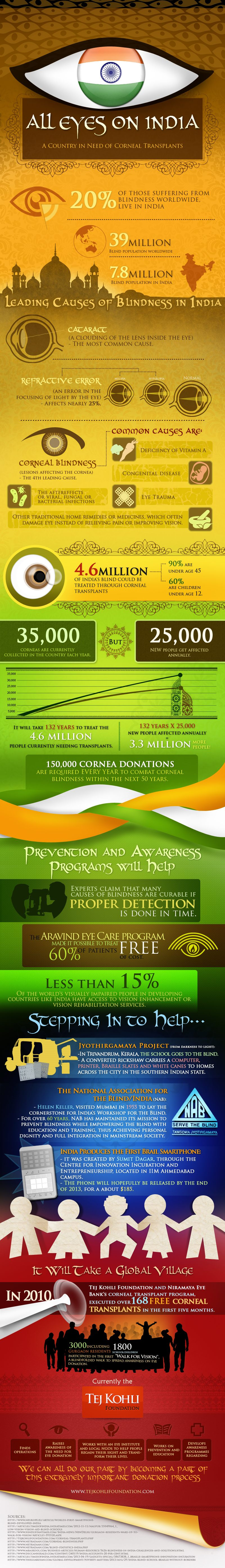 all eyes on india infographic