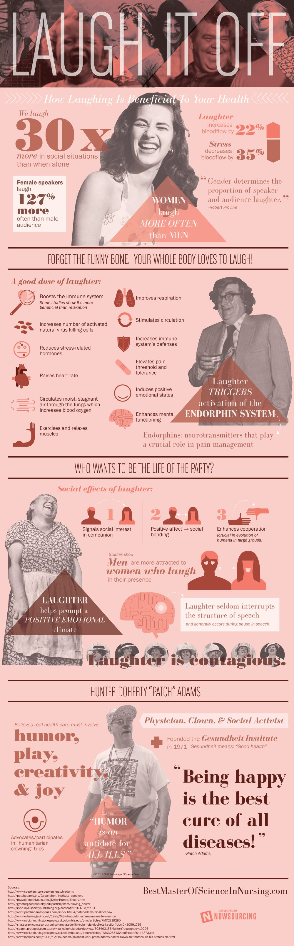 how laughing is beneficial to your health infographic