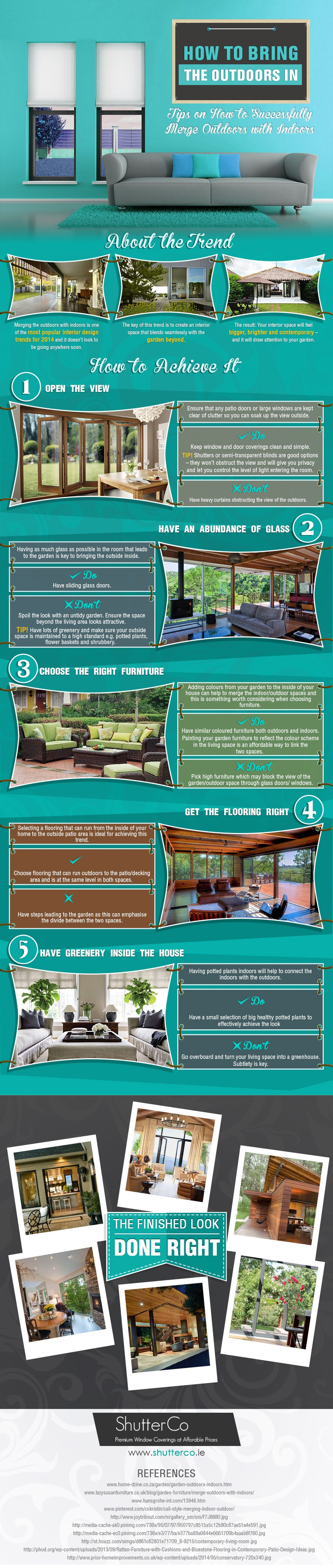 how to bring the outdoors in infographic