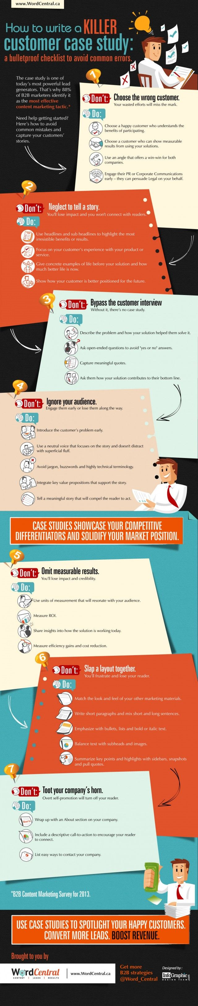 how to write a killer customer case study infographic