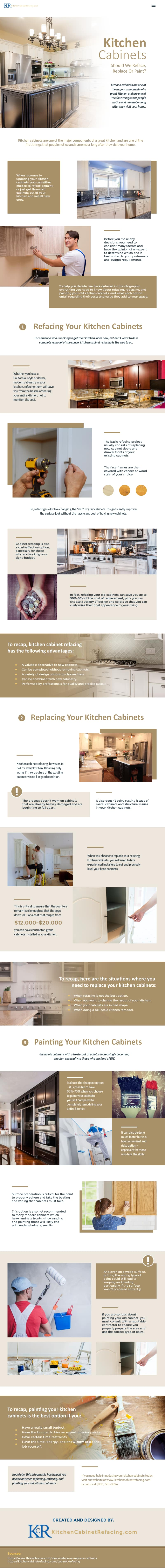 Kitchen Cabinets Should we Reface Replace or Paint